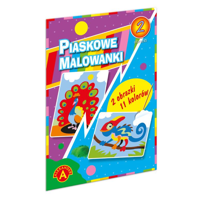1399 Piaskowe Malowanki - Kameleon i Paw