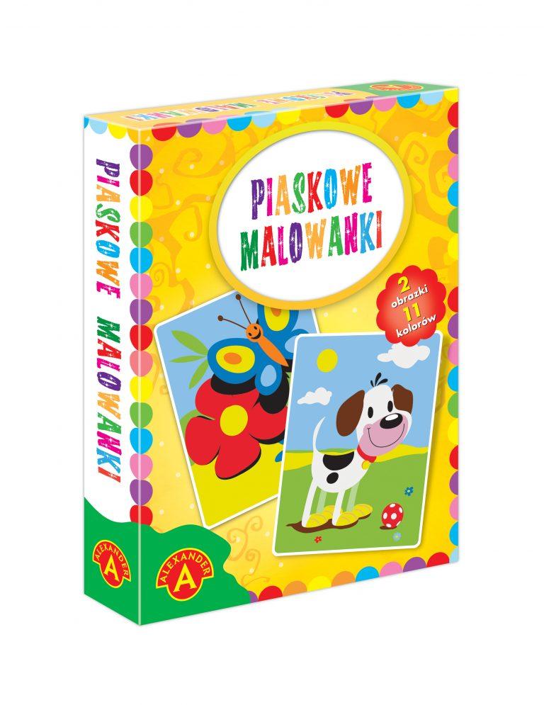 2466 Piaskowe Malowanki Pies Motyl