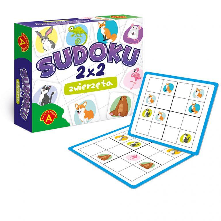 2285 Sudoku 2x2 Zwierzeta - rekw